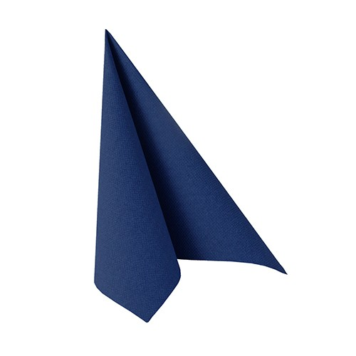"Papstar Servietten ""ROYAL Collection"" 1/4-Falz 25 cm x 25 cm  dunkelblau"